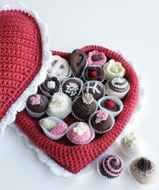 crochet san valentin bombones corazon