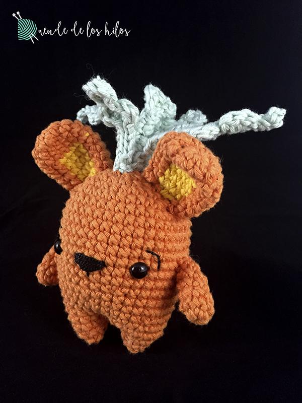 Amigurumi zanahoria conejo 3