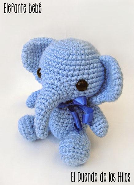 amigurumi elefante bebe