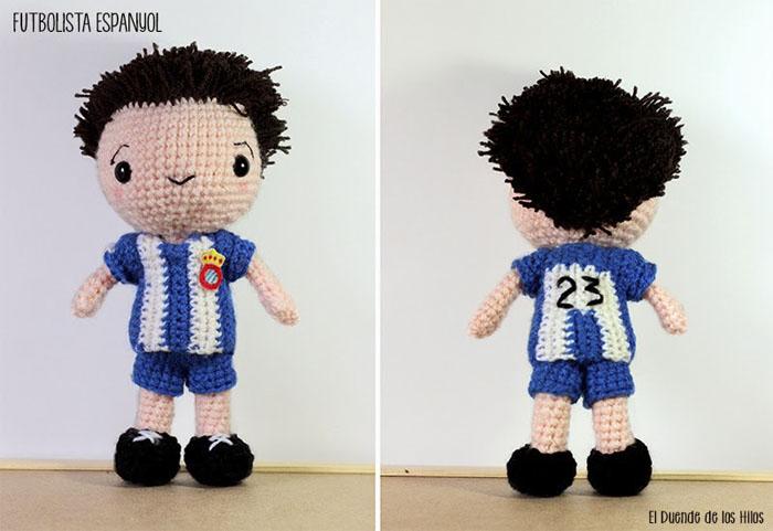 amigurumi futbolista espanyol 2