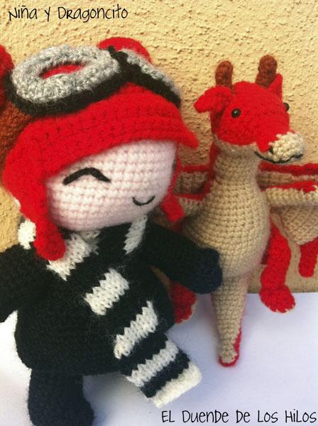 amigurumi personalizado niña dragon