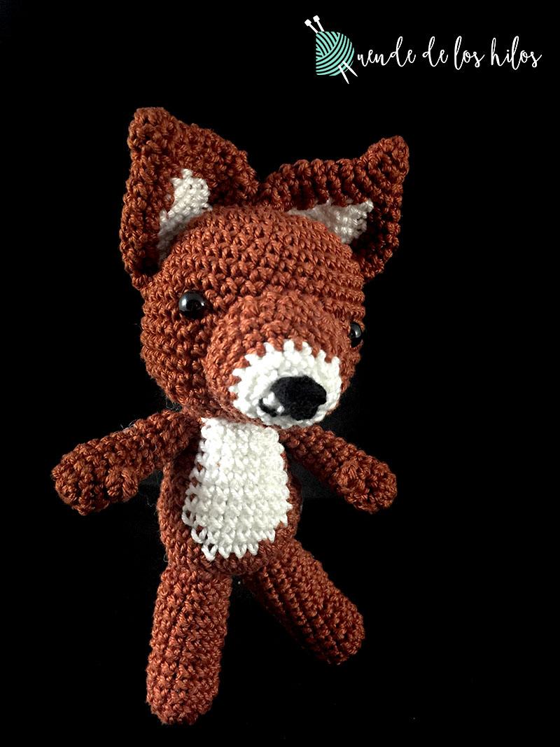 Amigurumi fox pdf, crochet small fox, pattern red fox | Ganchillo ... | 1067x800
