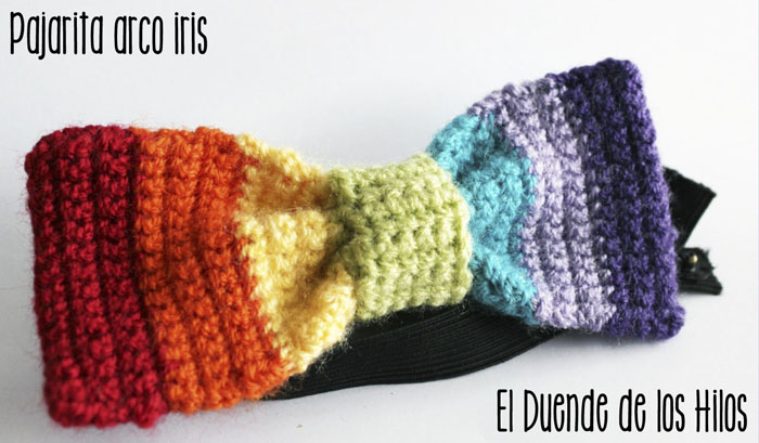 patron crochet pajarita arcoiris – Amigurumi Duende de los Hilos