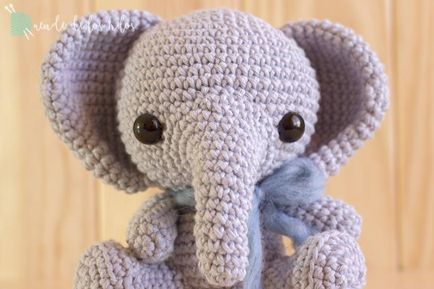 Elefante bebé. Versión algodón.