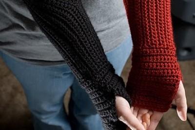 Gauntlet Style Fingerless Gloves TRADUCCIÓN