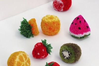 Pompones frutas