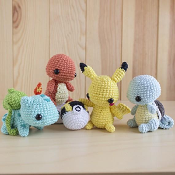 Patrón Starters + Pikachu-regalo