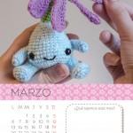 Calendario Amigurumi: Marzo