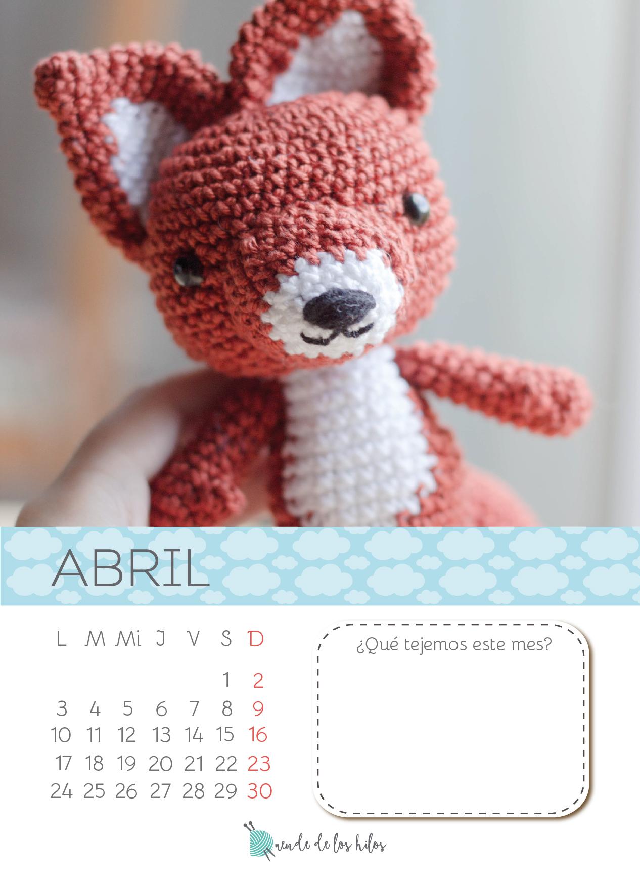 Calendario Amigurumi: Abril