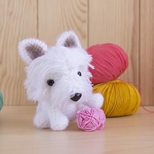 Perro Amigurumi Kawaii : Patron West Terrier (perro amigurumi) Amigurumi Duende ...