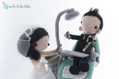 Figuras de boda, miniyo dentista, Cake topper!