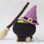 Patrón: Kit brujita kawaii – Especial Halloween