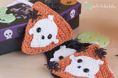 Guirnalda Halloween – ¡Fantasmas que brillan en la oscuridad!