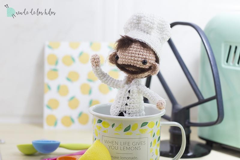 Sergio: ¡Nuestro amigurumi cocinero! – Amigurumi Duende de los Hilos