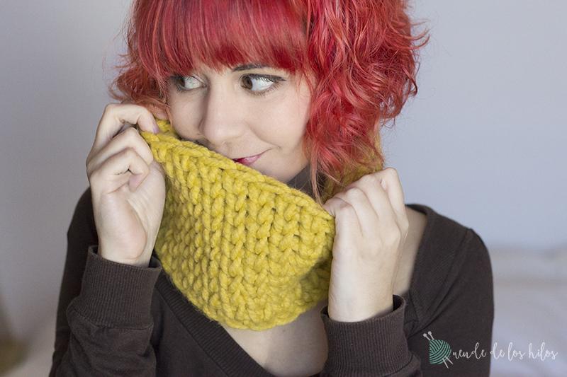 CAL #Cuellitocalentito : Tejer un cuellito punto jersey a crochet