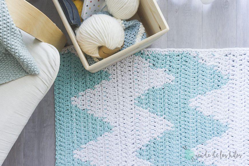 Alfombra Tapestry a Crochet – ¡Alfombra zigzag!
