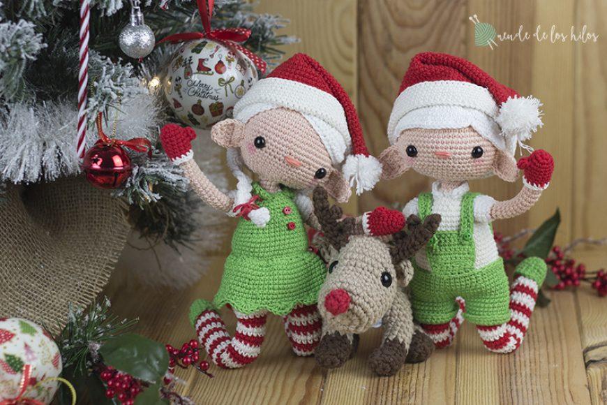 ¡Patrón de duendecillos navideños a crochet!