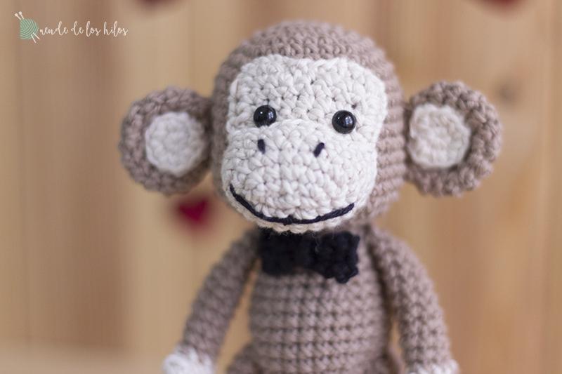 Juguete sonajero muñeco mono Amigurumi gracioso ganchillo|juguete ... | 533x800