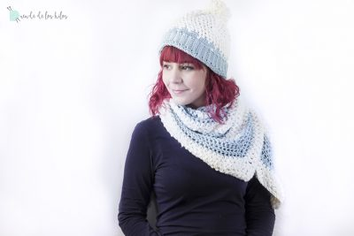 Chal y gorrito a crochet – ¡Copitos!